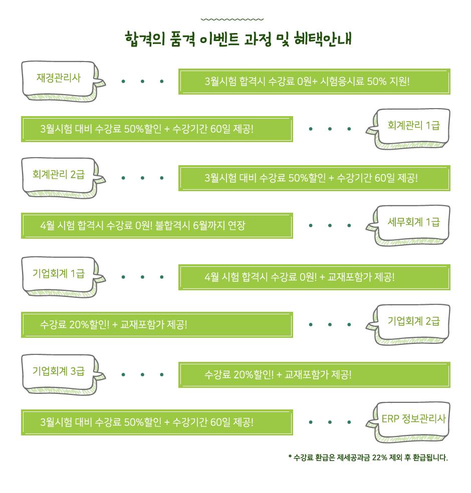 세무회계자격증 합격의품격이벤트
