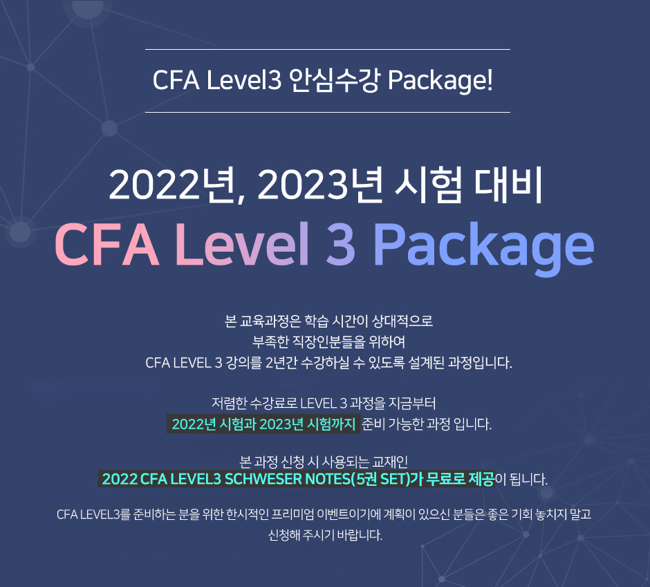 CFA Level 3 Package