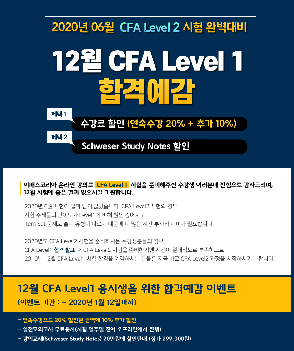12월 CFA Level 1 합격예감